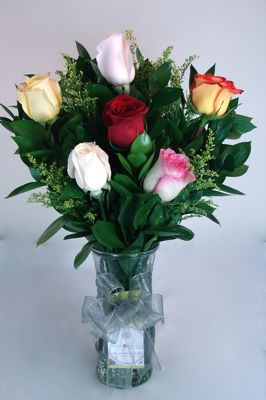 Half Dozen Assorted Roses