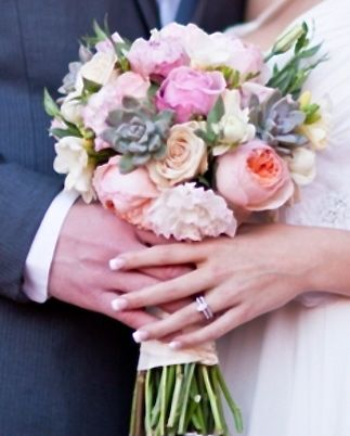 wedding bouquet - Garden Rose And Peony