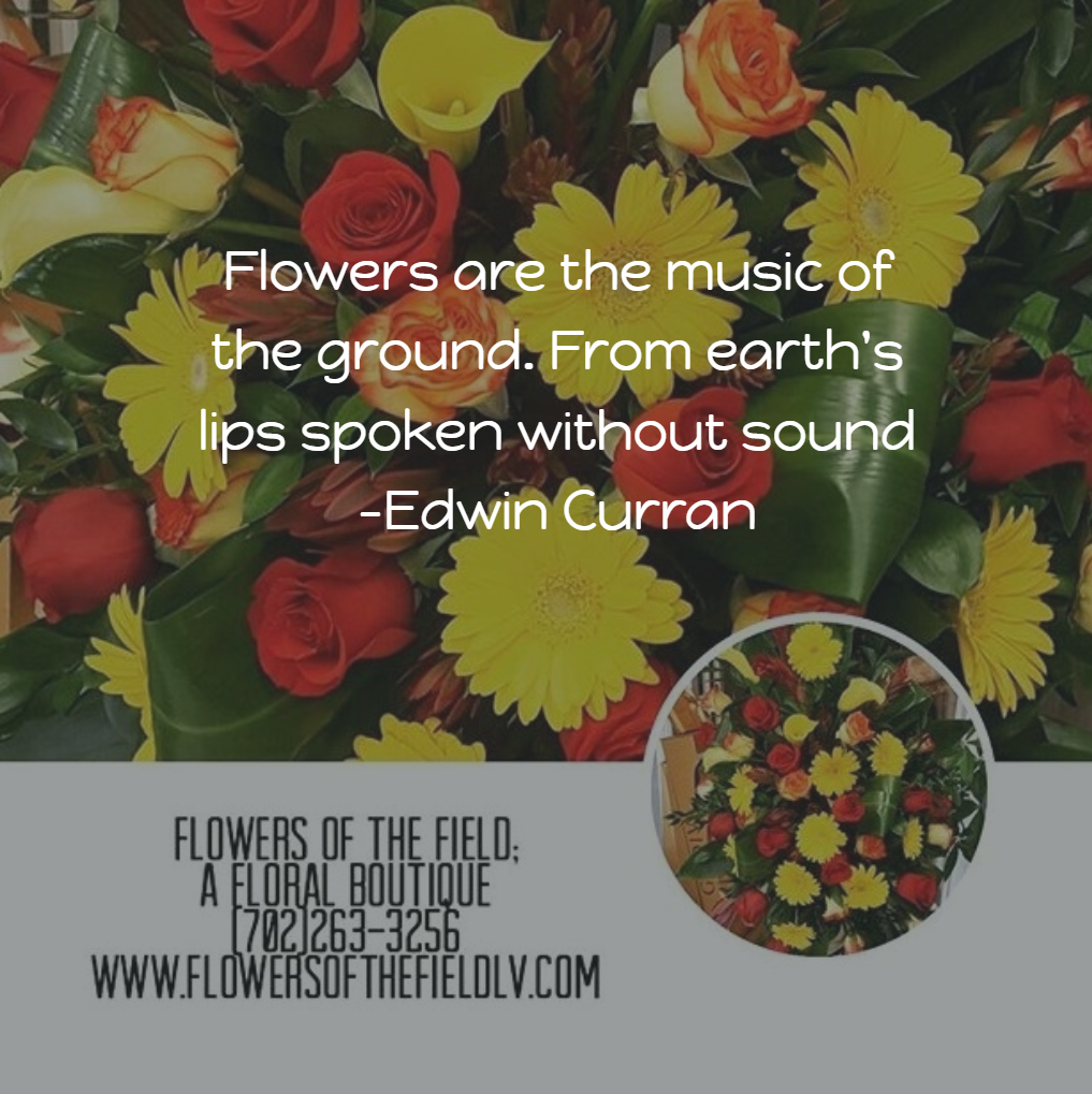 Quotes About Bouquets Of Flowers: Flowers Of The Field Las Vegas